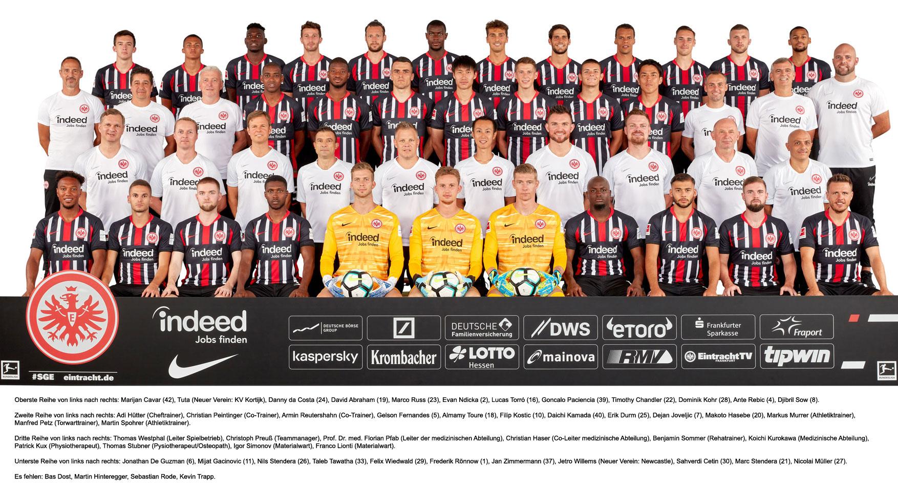 eintracht frankfurt teamfoto 2019/20